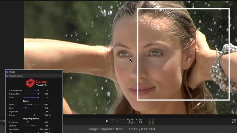 Luca Visual FX - Plug-ins - Image Sharpener for Final Cut Pro X