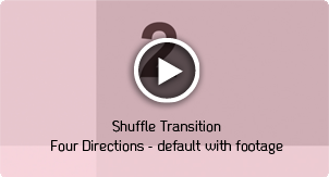 Shuffle Transitions Four Directions