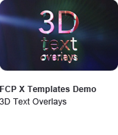 3D Text Overlays Title Templates Demo